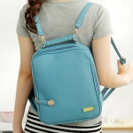 """""""พร้อมส่ง""""กระเป๋าแฟชั่น PG กระเป๋าเป้ ถอดสายได้ ทรงสวย สายซิปเอามาล็อกด้านหน้าได้ เก๋ค่ะ -สีฟ้า"""