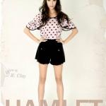 """""""พร้อมส่ง""""เสื้อผ้าแฟชั่นสไตล์วินเทจราคาถูก Hamlet กางเกงมีกระดุมม้าโยกทอง -สีดำ"""