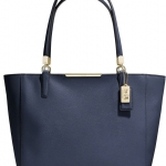 COACH MADISON EAST/WEST TOTE IN SAFFIANO LEATHER # 29002 สี NAVY