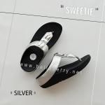 * NEW * FitFlop Sweetie : Silver : Size US 6 / EU 37