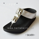 * NEW * FitFlop Sweetie : Silver : Size US 7 / EU 38