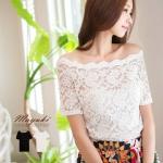 ♡♡pre-order♡♡ เสื้อเกาะอกผ้าลูกไม้ทั้งตัว หรูหราน่ารักมากๆ