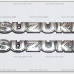 โลโก้ SUZUKI สีเงิน 16cm.x2.5cm. (2ชิ้น)