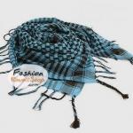 ผ้าพันคอชีมัค Shemash (เนื้อผ้า Viscose) : สีน้ำเงินดำ CV0011