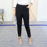กางเกงผ้ายืดสีดำขายาว ปลายขาฉลุ (XL,2XL,3XL,4XL,5XL)