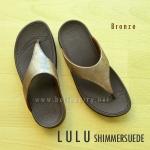 **พร้อมส่ง** FitFlop LULU Shimmersuede : Bronze : Size US 7 / EU 38
