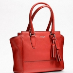 Coach legacy leather candace carryall # 19891 สี Carnelian