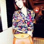 """""""พร้อมส่ง""""กระเป๋าแฟชั่น Maomao กระเป๋าสะพาย ทรงน่ารัก ด้านบนฝาปิดและสายสะพายลายหนังจระเข้ -สีส้ม"""