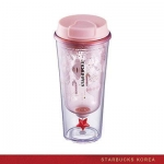 PREORDER STARBUCKS KOREA 2016 Christmas Pink star figure tumbler 355ml