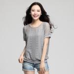 เสื้อยืดไซส์ใหญ่ สีเทา (XL,2XL)