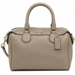 COACH PEBBLED LEATHER MINI BENNETT SATCHEL # 36677 สี IMITATION GOLD/STONE