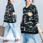 เสื้อกันหนาวสาวอวบแฟชั่นเกาหลี