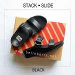 FitFlop : STACK SLIDE : Black : Size US 6 / EU 37