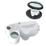 Loupe แว่นขยาย กล้องส่องจิวเวลรี่ กล้องส่องพระ 2 เลนส์ กำลังขยาย 60X และ 30X พร้อมไฟ LED