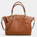 COACH SMALL KELSEY SATCHEL IN PEBBLE LEATHER # 36675 สี SADDLE