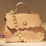 กระเป๋าแฟชั่นXiaoxiang กระเป๋าสะพาย สายมุก หรู -สีชมพู