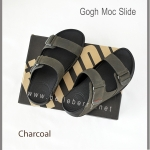 * NEW * FitFlop Men's : GOGH MOC Slide : Charcoal : Size US 9 / EU 42