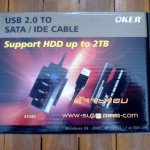 "Converter ( IDE / Sata ) TO USB 2.0 ""OKER"" (V.2)"