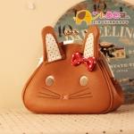 กระเป๋าแฟชั่นXiaoxiang กระเป๋าสะพายรูปกระต่ายน้อย ติดโบว์ น่ารัก -สีน้ำตาล