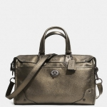 COACH RHYDER SATCHEL IN METALLIC TWO TONE LEATHER # 33739