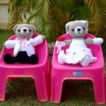 ตุ๊กตาหมีคู่บ่าวสาว ขนาด 21 นิ้ว แบบนั่ง << ขายแล้ว >>