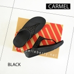 **พร้อมส่ง** FitFlop : CARMEL Toe-Post : All Black : Size US 8 / EU 39
