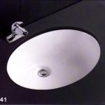 อ่างฝังเค้าเตอร์สีขาว C241