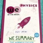 ►We Brain วีเบรน◄ PHY A314 We Summary The Winner Edition หนังสือกวดวิชาสรุปเนื้อหาฟิสิกส์ ม.ต้น ครบทั้งหมดทุกบท อ่านเข้าใจง่าย มีรูปภาพ แผนภาพ ไดอะแกรม Mind Mapping มีสรุปสูตรและเทคนิคลัดเยอะมาก พิมพ์สีทั้งเล่ม มีภาพน่ารักๆประกอบคำอธิบาย หนังสือหายาก ขายเ