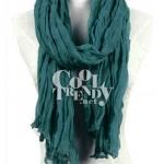 ผ้าพันคอแฟชั่น Cotton Candy : สี Pine Green