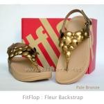 SALE > US 9 : FitFlop Fleur Backstrap : Pale Bronze : Size US 9 / EU 41