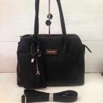 กระเป๋า Jimmy Choo มาใหม่ ทรงสวยเก๋ ขนาด 12 นิ้ว พร้อมสายสะพายยาว สีดำ