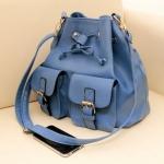 """""""พร้อมส่ง""""กระเป๋าแฟชั่นAxixi กระเป๋าสะพายทรงน่ารัก มีกระเป๋าเล็กๆด้านหน้า2ข้าง สวยค่ะ -สีฟ้า"""