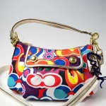 COACH POPPY POP C GROOBY CROSSBODY PURSE # 13834 สี MULTICOLOR/GOLD