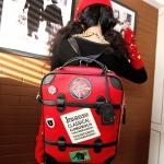 """""""พร้อมส่ง""""กระเป๋าแฟชั่น Vivian กระเป๋าสะพายเป้ใบใหญ่ จุของได้เยอะ ใส่ไปเที่ยวสบาย -สีแดง"""