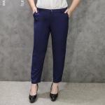 กางเกงขายาวไซส์ใหญ่ รูดซิป ติดกระดุม สีน้ำเงินเข้ม (33,34,36,37,38,40,42)