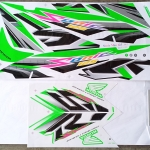 สติ๊กเกอร์ SONIC-2007 ลายแต่ง สีเขียว (สีแปลง)