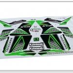 สติ๊กเกอร์ KSR-TAKEGAWA ปี 2015 ติดรถสีเขียว