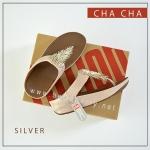 FitFlop : CHA CHA : Silver : Size US 5 / EU 36