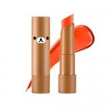 Preorder Apieu Rilakkuma Mellow lipstick OR03 (California) (리락쿠마 에디션) 멜로우 립스틱 6800won สิปสติกสีสันสดใส ให้ความชุ่มชื้นและสีติดทนนาน ที่มีส่วนผสมของสารสกัดจากเชียบัตเตอร์และผลไม้ มอบความชุ่มชื้นและมันวาว