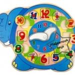 2SW-E114 นาฬิกาช้างจับคู่รูปทรง