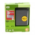 "EXT. 2.5"" SATA 500 GB. Western (Passport) Black USB 3.0"