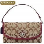 COACH PARK SIGNATURE LARGE FLAP WRISTLET # 51820