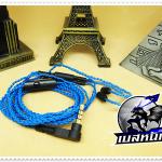 สายหูฟังเกรดพรีเมี่ยม Plug Shure (MMCX) (SMALLTALK) (Blue)