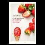 พร้อมส่ง INNISFREE IT'S REAL SQUEEZE MASK-STRAWBERRY 잇츠 리얼 스퀴즈 딸기 마스크 950 won