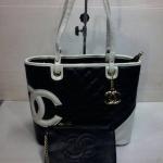 กระเป๋า Chanel มาใหม่ ทรง Shopping งานสวย ขนาด 13 นิ้ว พร้อมลูกกระเป๋า  สีดำ