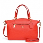 COACH PRAIRIE SATCHEL IN PEBBLE LEATHER # 34340 สี WATERMELON
