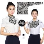 ผ้าพันคอสำเร็จรูป ผ้ายูนิฟอร์ม uniform ผ้าไหมซาติน : L43