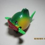 ปลาแก้มป่องไขลาน สีเขียว
