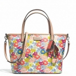 COACH Metro Floral Print Small Tote Crossbody Bag # 29962