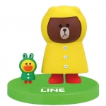 """""""พร้อมส่ง""""นำเข้าจากญี่ปุ่น 100% LINE Model LINE CHARACTER Figure Collection โมเดลตุ๊กตา line ตั้งโต๊ะ -Brown ใส่เสื้อฝน"""